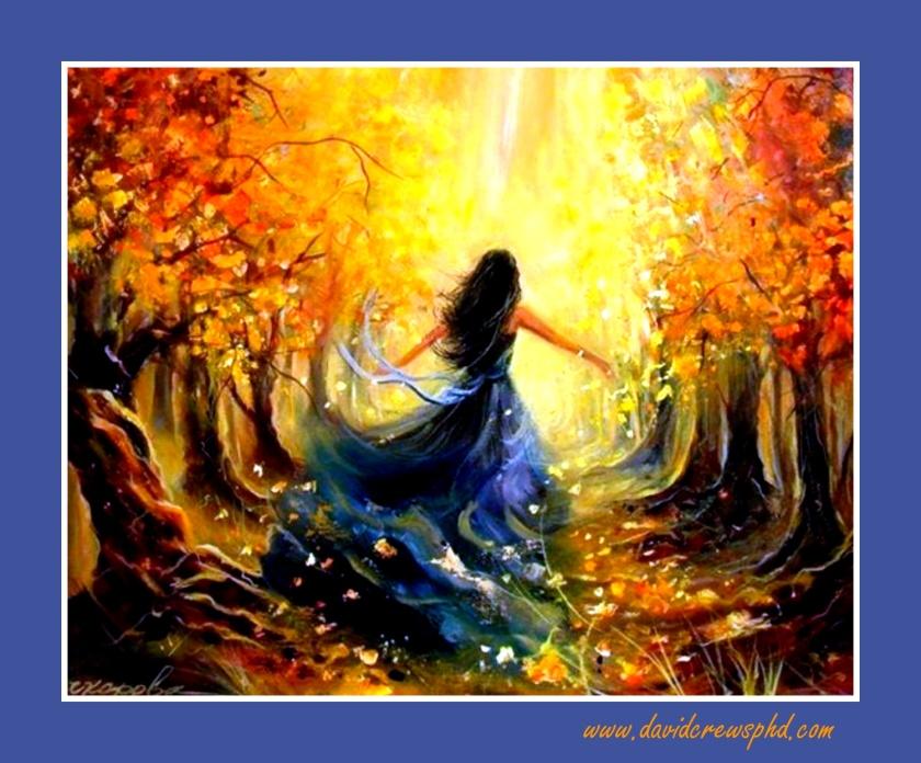 ws_Woman_Autumn_Forest_Sunlight_1280x1024